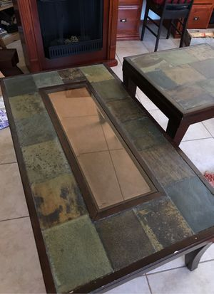 Slate coffee table and side table for Sale in Glendale, AZ
