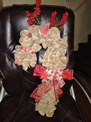 Burlap Rudolph Wreath for Sale in Buckhannon, WV