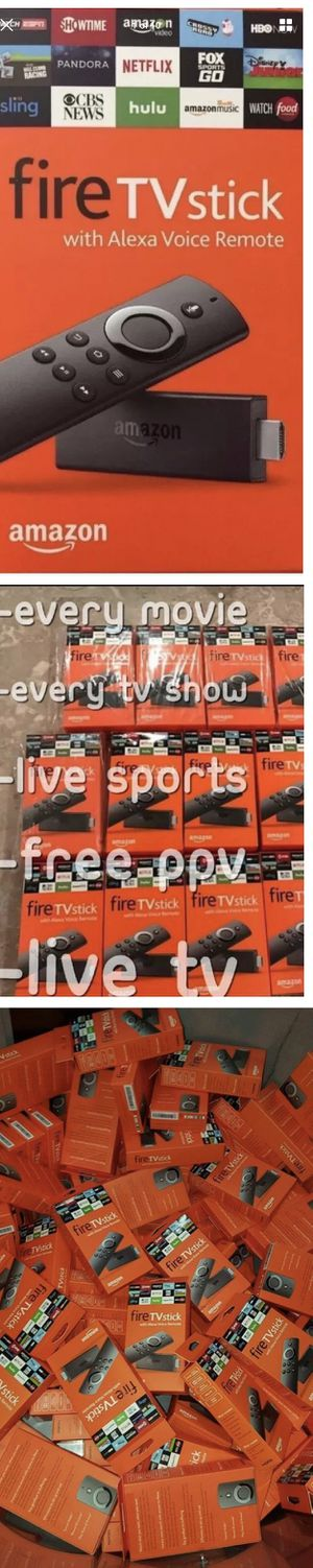 2017 New Amazon Fire TV Stick Firestick Fully Loaded W/ Live TV l Movies l TV Shows l Music l PPV Events Better than Android Tv Box for Sale in Las Vegas, NV