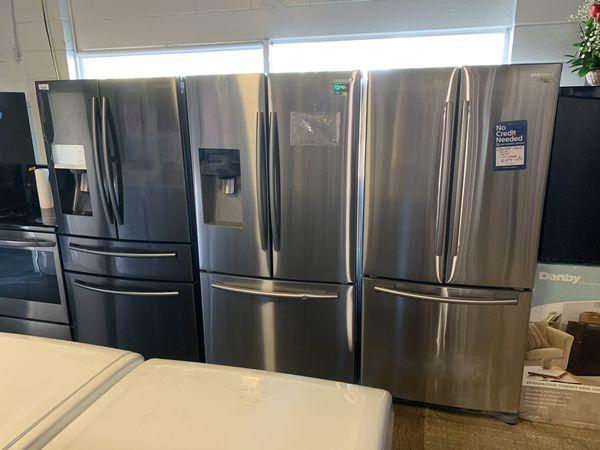 Stainless frenchdoor or four door refrigerators