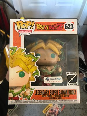 Legendary Super Saiyan Broly galactic toys funko pop for Sale in San Jose, CA