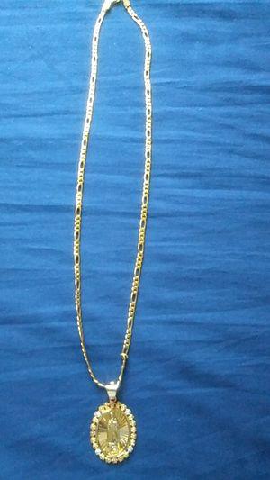 Cadena y medalla chapa de oro for Sale in Los Angeles, CA