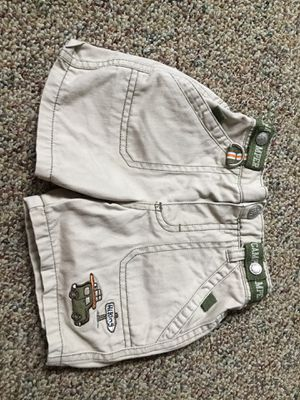 Baby boy khaki shorts size 6 to 9 months happy camper summer for Sale in Queens, NY