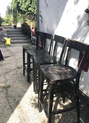 4 black bar stools for Sale in Bellevue, WA