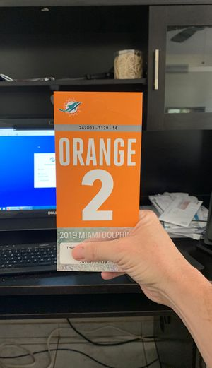 Miami dolphins orange parking home game #2 for Sale in Dublin, OH