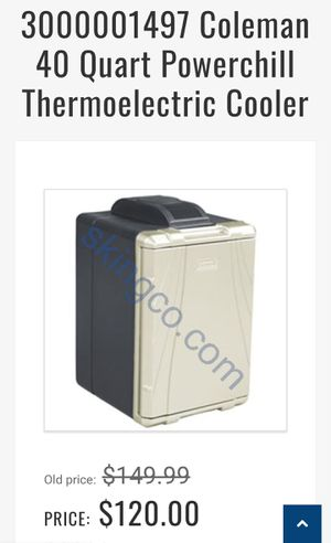 3000001497 Coleman 40 Quart PowerChill Thermoelectric Cooler for Sale in Chula Vista, CA