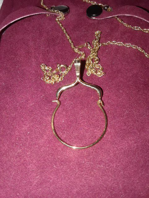 Charm Holder 14K Gold and chain