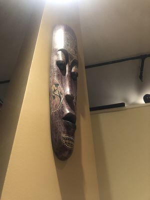 Wooden wall mask for Sale in Washington, DC
