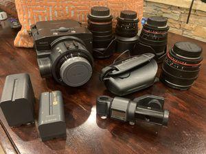Sony FS 100 and Rokinon Cinema Lenses for Sale in Houston, TX