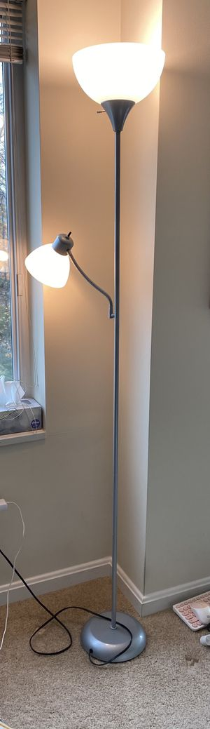 Stand lamp 3 way with reading light for Sale in Arlington, VA