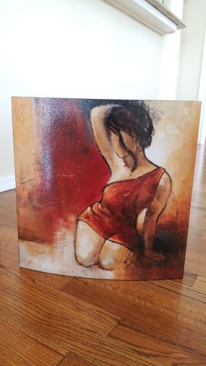 Three prints / paintings of women. All similar in color. for Sale in CORP CHRISTI, TX