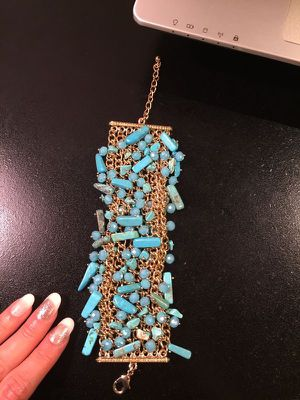 18K Gold plated- Mix shaped Turquoise Bracelet for Sale in Washington, DC