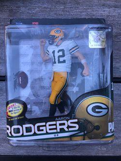 Aaron Rodgers Mcfarlane figure toy Greenbay Packers NFL for Sale in Lynnwood,  WA