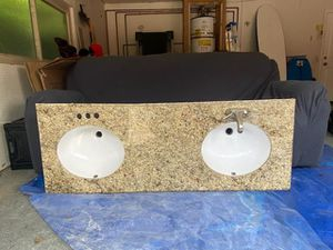 Vanity granite counter double sink for Sale in Spring Valley, CA