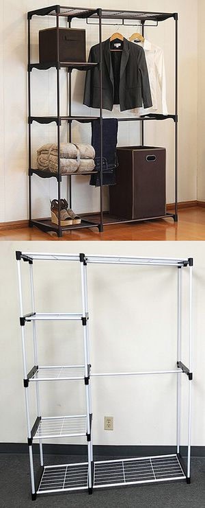 "$25 each New Double Rod Freestanding Closet Heavy Duty Storage Organizer, 45""x19""x68"" for Sale in Whittier, CA"