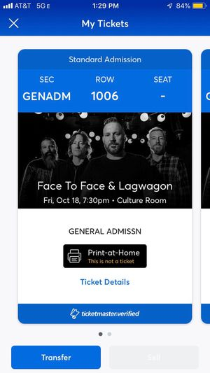 2 Tickets Face to Face and Lagwagon SOLD OUT for Sale in Fort Lauderdale, FL