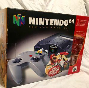 New in box Nintendo 64 Walmart Mario bundle! for Sale in Burbank, CA