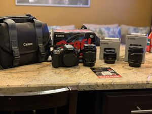 Canon Rebel T6i With lenses for Sale in Queens, NY