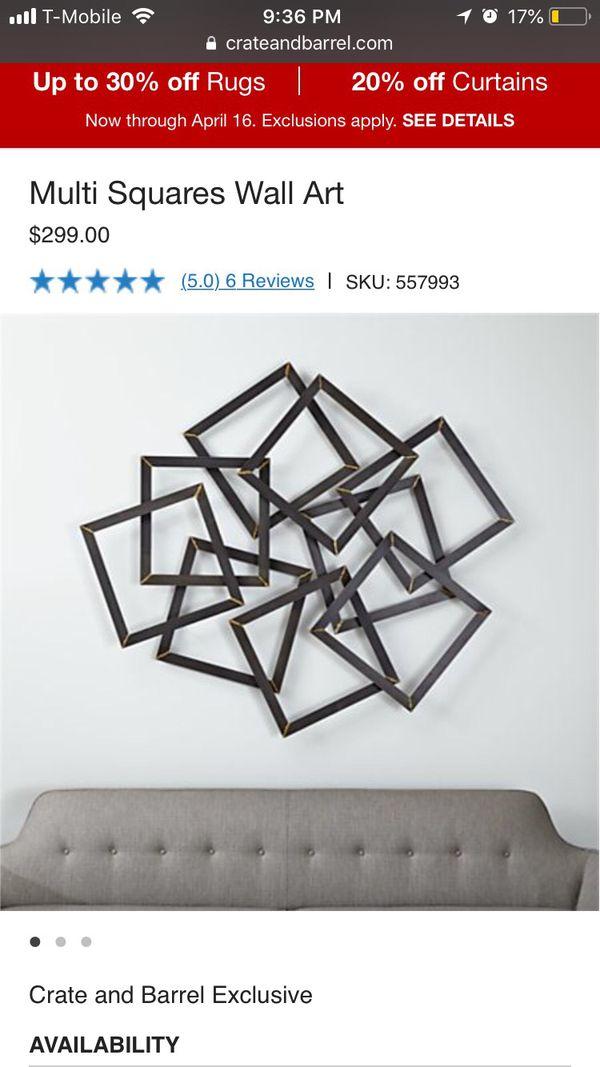 Multi Square Wall Art