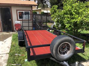 7x14 trailer for sale pink in hand new tires new spare tire permanent plates for Sale in Riverside, CA