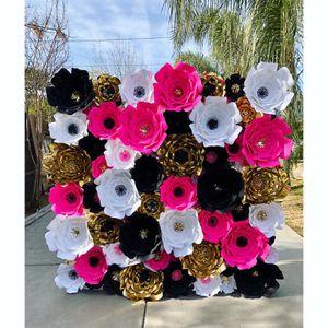 Kate spade theme paper flower wall for Sale in San Bernardino, CA