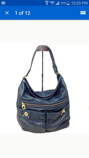 Marc Jacobs Women's Purse Teal Blue Soft Leather Tote Shoulder Hobo Turnlock Bag for Sale in Huntington Beach, CA