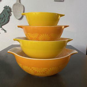Vintage Pyrex Sunflower Cinderella Mixing Bowls for Sale in Las Vegas, NV