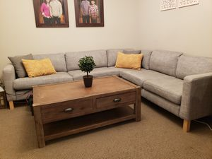 Modern sectional sofa and coffee table (sold separately) for Sale in Cypress, CA