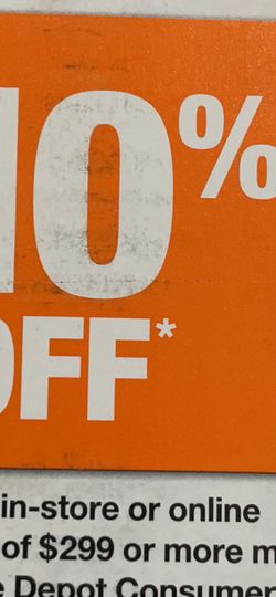 Home Depot Coupon for Sale in Rochester,  NY
