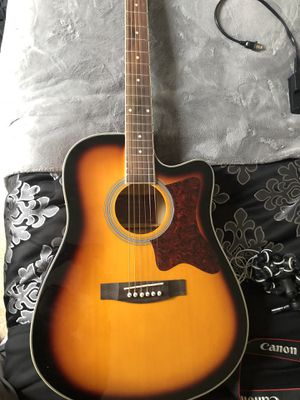 Spectrum Acoustic-Electric Guitar with Mini Amp for Sale in Riverdale, GA
