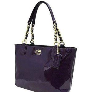 Purple Patent Leather Coach Tote Handbag for Sale in Irvine, CA