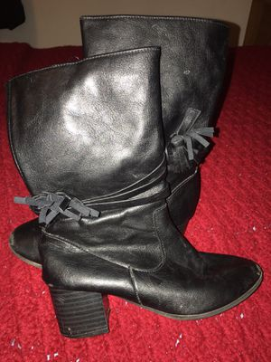 Sz 2 Black Boots Girls Shoes for Sale in York, PA