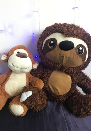 Sloth & Teddy bear stuffed animals for Sale in Anaheim, CA