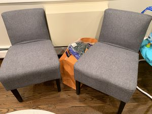 Two gray like new accent chairs for Sale in Chicago, IL