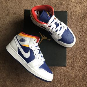 Jordan 1 Mid 'White Deep Royal' (GS 4.5 / W 6) for Sale in Marina del Rey, CA