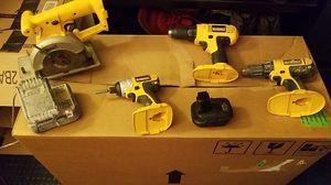 DEWALT 18v 4 tool set with 20v batterie and 18v adapter alone was 22$ for Sale in Leawood, KS