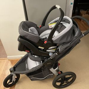 Used Graco Jogger Stroller With Car seat And Insert for Sale in Bellevue, WA