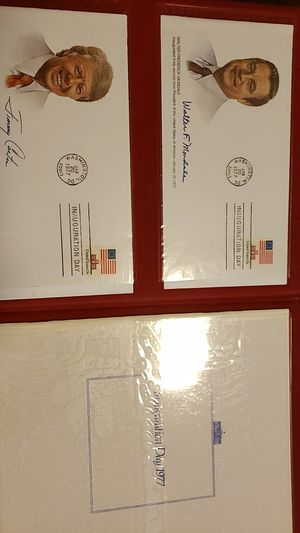 Jimmy Carter and Walter Mondale signed inauguration envelopes and inauguration program for Sale in La Mesa, CA