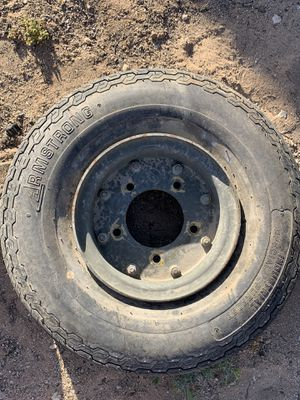 Trailer rims and tires 15 available for Sale in Lancaster, CA