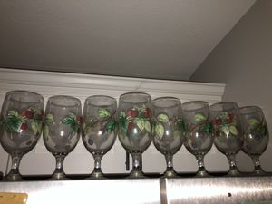 BRAND NEW ! Set of 8 footed glasses - noritake autumn harvest for Sale in Ocoee, FL