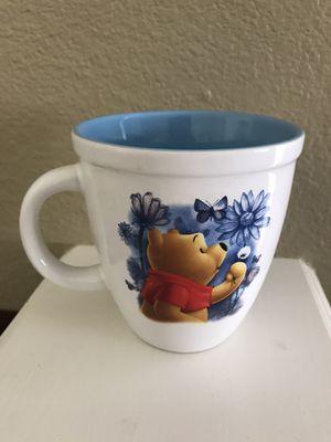 Disney Winnie the Pooh large mug blue/white for Sale in Zephyrhills, FL