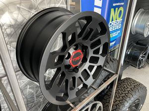 16x8 6x139 +5 offset new tacoma trd wheels stain black fit tacoma wheels tire rim shop for Sale in Tempe, AZ