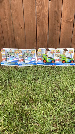 Toy Story 4 Pop Up Cars / Woody & Buzz for Sale in Houston, TX