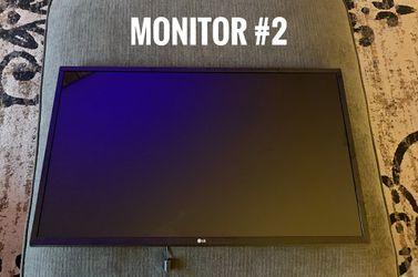 2 LG Monitors for Sale in Escondido,  CA