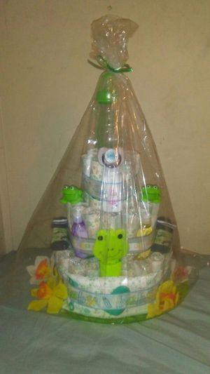 Frog diaper cake for Sale in Thonotosassa, FL