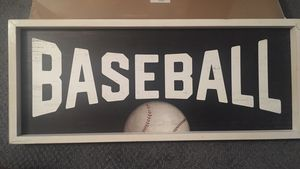 Baseball framed decor picture 24.25x10in. for Sale in North Brunswick Township, NJ