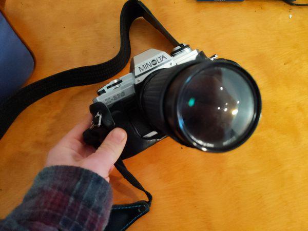Vintage Minolta Camera - 3 lenses and accessories