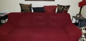 Red Leather Sofa and Loveseat Set. Read Description for Sale in San Jose, CA