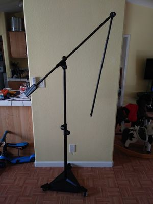 On-Stage SMS7650 Studio Boom Microphone Stand with Casters for Sale in Roseville, CA