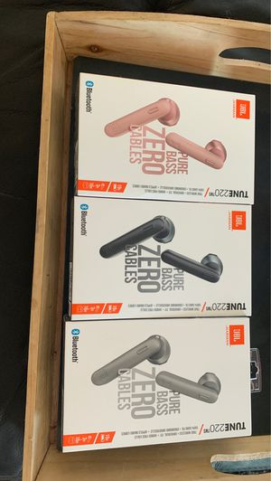 JBL HARMAN TUNE220 TUNE 220 TWS TRUE WIRELESS EARBUDS EARPHONES NEW SEALED BOXES PINK GREY OR BLACK for Sale in Tracy, CA